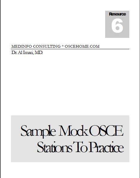OSCEhome Clinical Skills Medical OSCE Exam Assessment